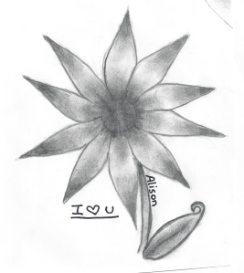 flower drawn by Miriah's daughter