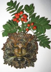 Green Woman with Rowan Berries