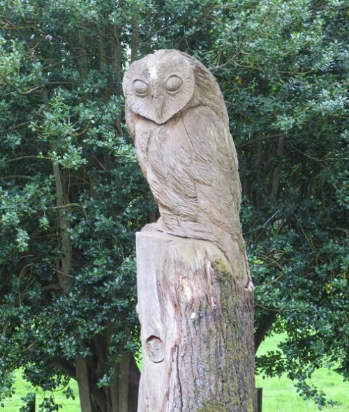Cragside, UK, August 2017, Owl sculpture, Miriah Hetherington